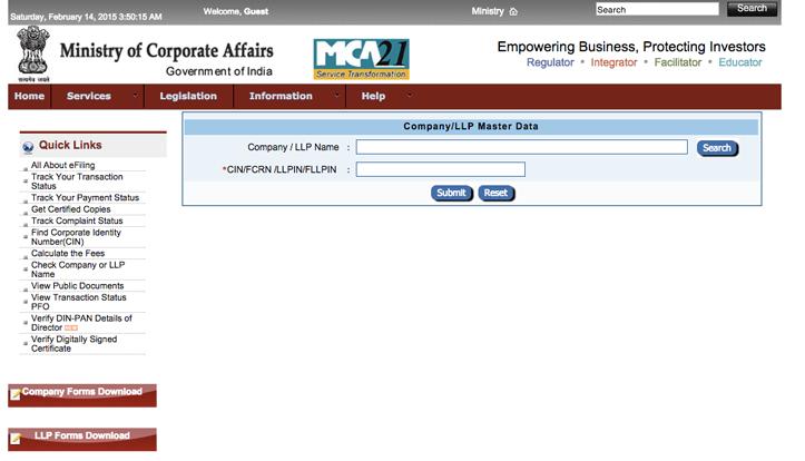 Company Registration Status MCA